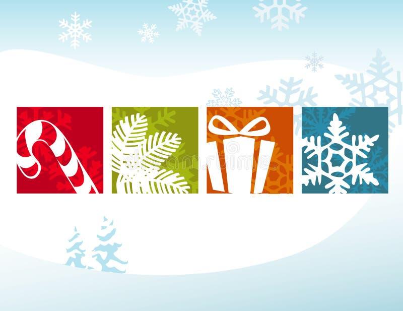 Stilisiert Weihnachtsikonen vektor abbildung