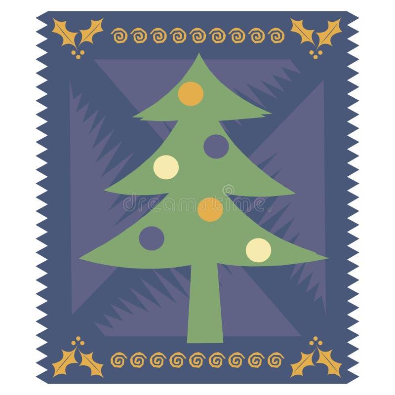 Stilisiert Weihnachtskarte vektor abbildung