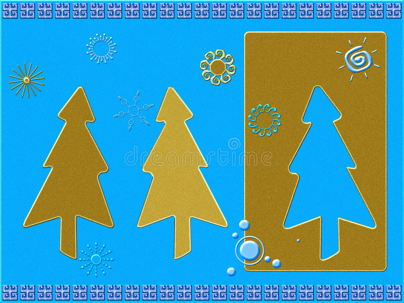 Stilisiert Weihnachtskarte stock abbildung