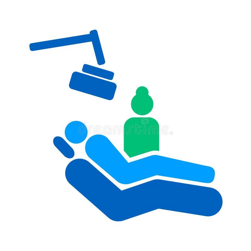 Am stilisiert Zeichen des Zahnarztstudios stock abbildung
