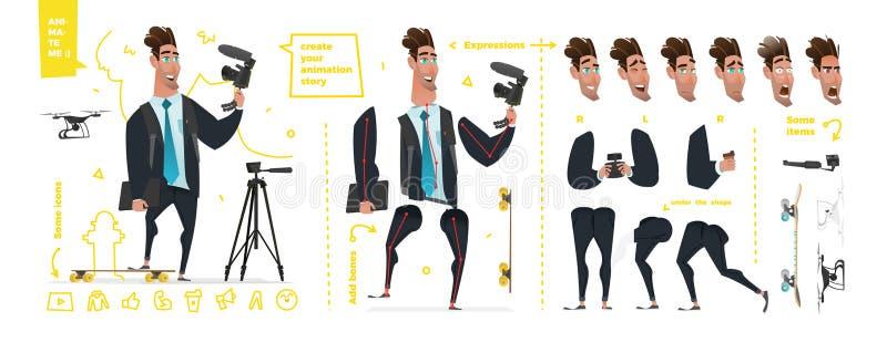 Stilisierte Charaktere eingestellt für Animation lizenzfreie abbildung