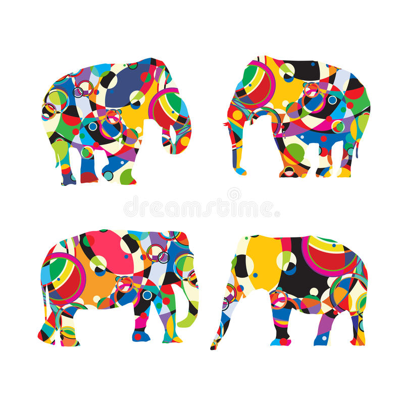 Stilisierte Elefanten vektor abbildung