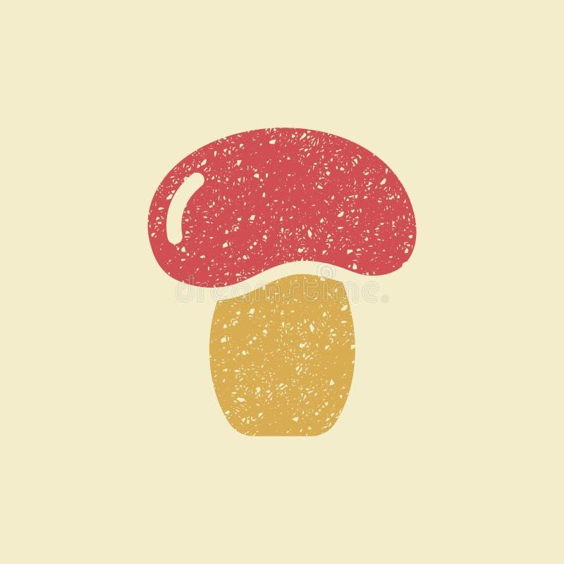 Stilisierte flache Ikone eines Pilzes lizenzfreie abbildung