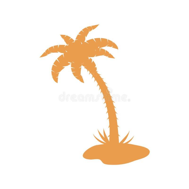 Stilisierte Ikone der Palme stock abbildung