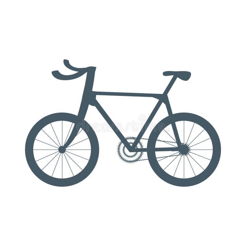 Stilisierte Ikone eines farbigen Fahrrades auf einem wei?en Hintergrund stock abbildung