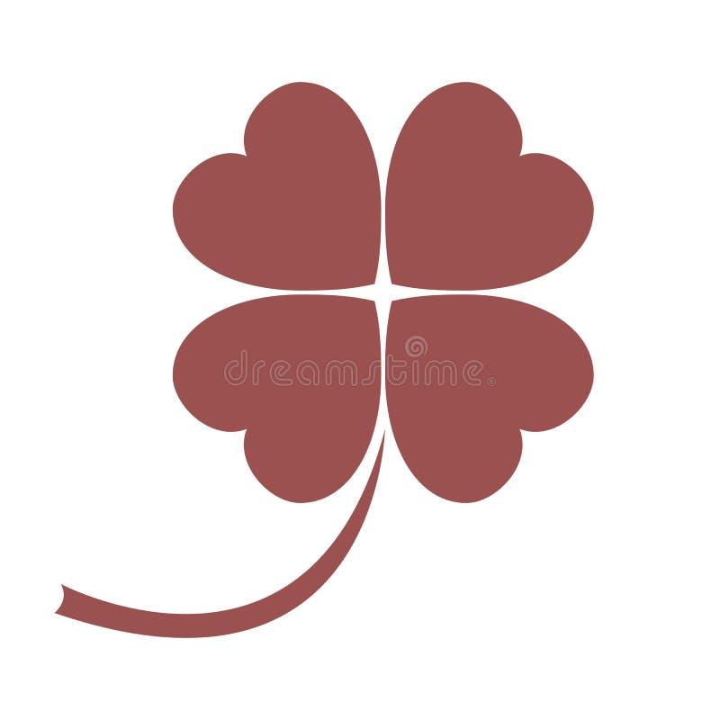 Stilisierte Ikone eines farbigen Kleeurlaubs auf einem wei?en Hintergrund vektor abbildung