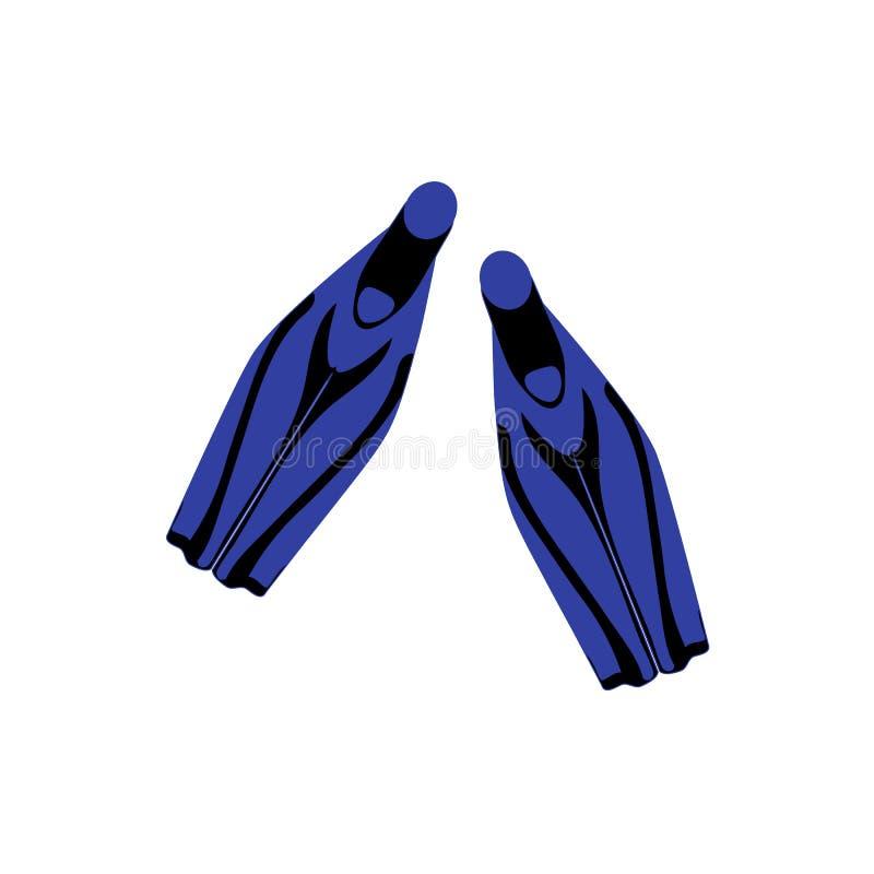 Stilisierte Ikone von farbige Flipper auf einem wei?en Hintergrund lizenzfreie abbildung