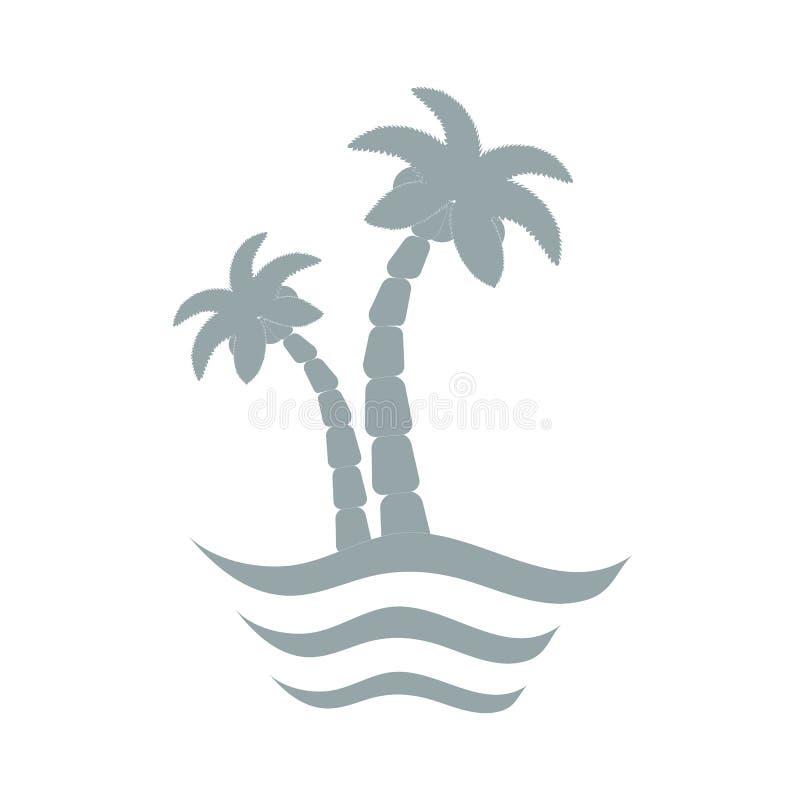 Stilisierte Ikone von Palmen lizenzfreie abbildung