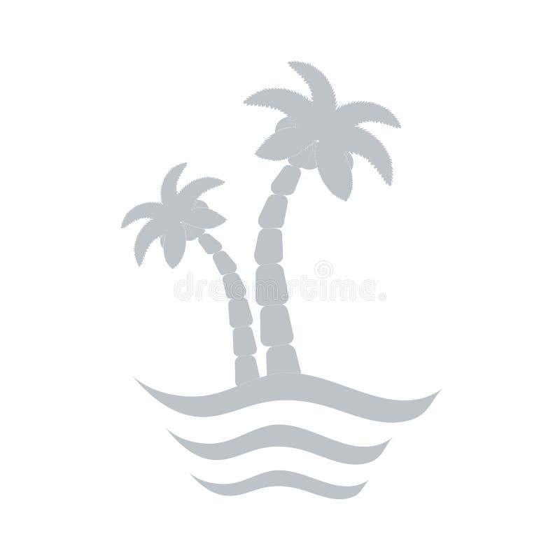 Stilisierte Ikone von Palmen stock abbildung