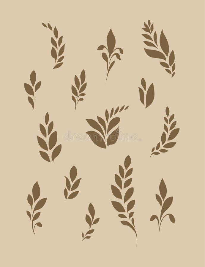 Stilisierte Kornähren oder Blätter vektor abbildung