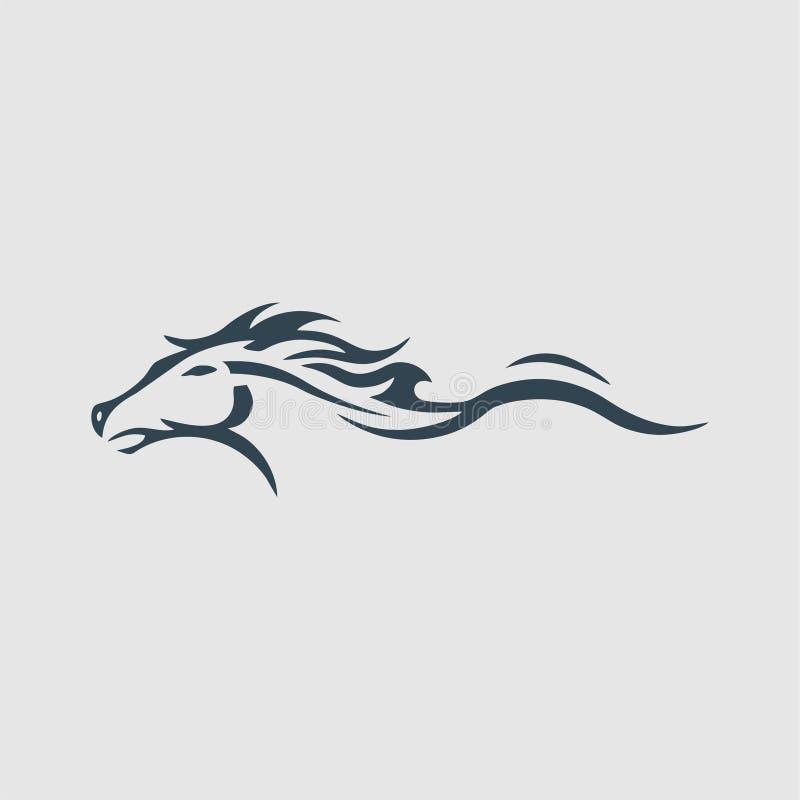 Stilisierte Pferdemonogrammentwurfs-Logoinspiration lizenzfreies stockbild