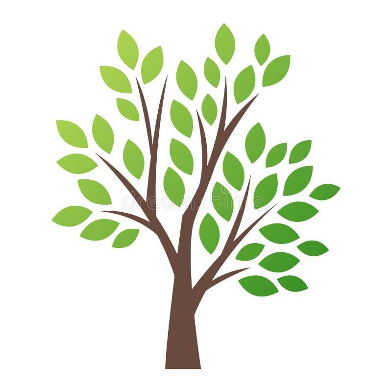 Stilisierte Vektorbaum-Logoikone lizenzfreie abbildung