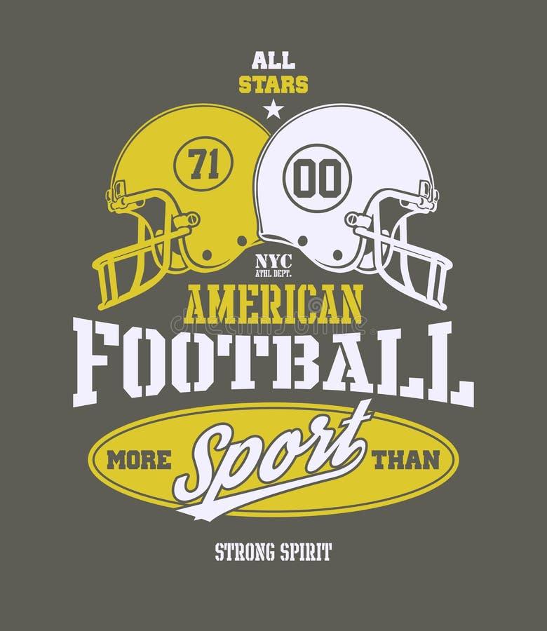 Stilisierte Vektorillustration des Football-Helms lizenzfreie abbildung