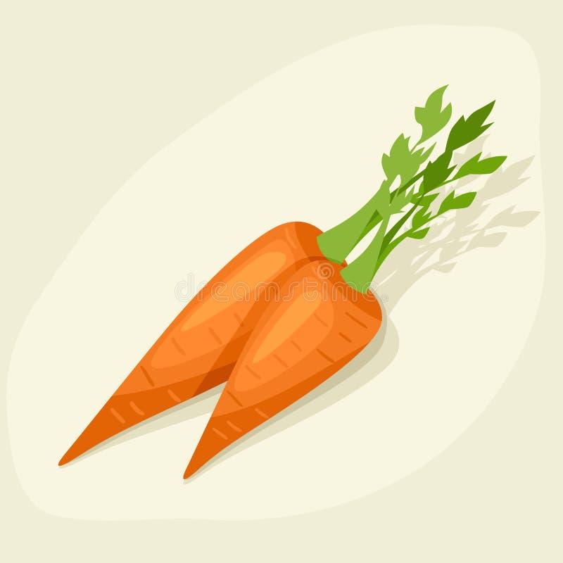 Stilisierte Vektorillustration von frischen reifen Karotten vektor abbildung