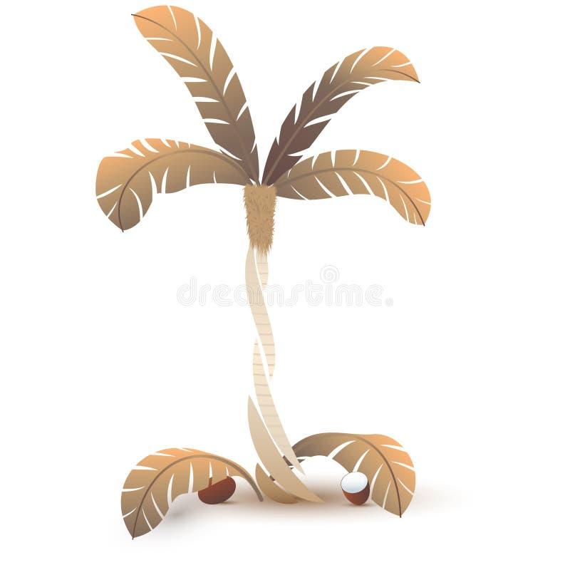 Stilisierte verwelkte Palme lizenzfreie abbildung