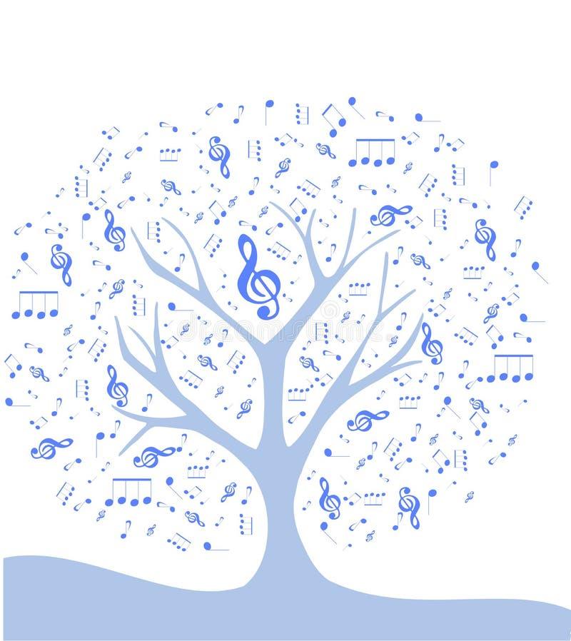Stilisierter Baum mit Anmerkungen vektor abbildung
