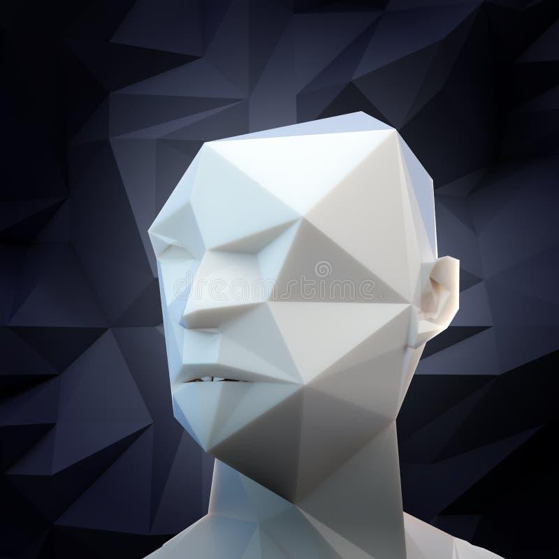 stilisierter Kopf 3D lizenzfreie abbildung
