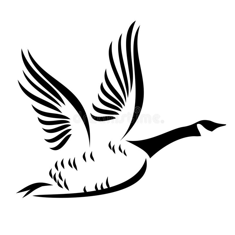 Stilisiertes Kanada-Gans-Logo lizenzfreie stockfotografie