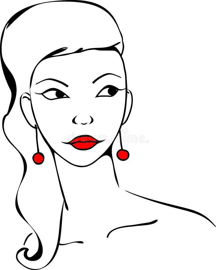 Stilisiertes Porträt eines Mädchenmodells stockfotografie