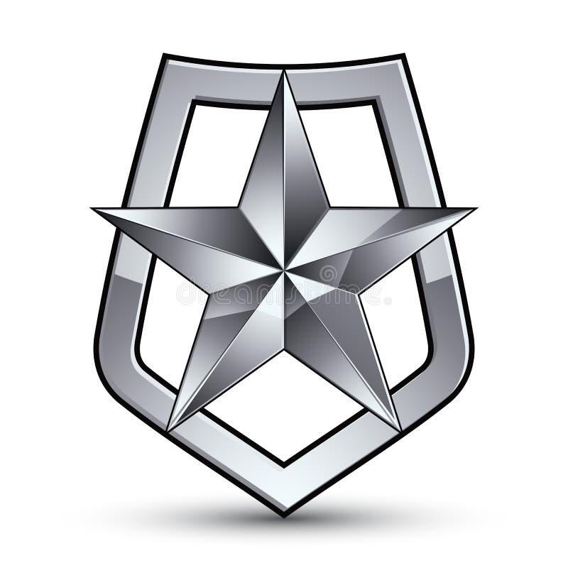 Stilisiertes Symbol des Vektors auf weißem Hintergrund bezaubernd lizenzfreie abbildung