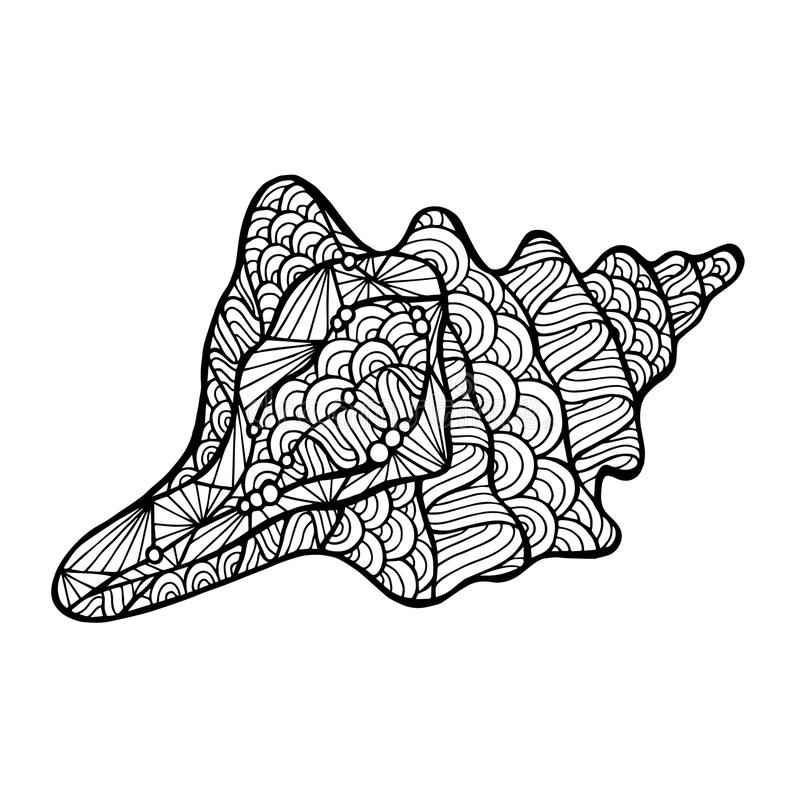 Stilisiertes Vektoroberteil, zentangle stock abbildung