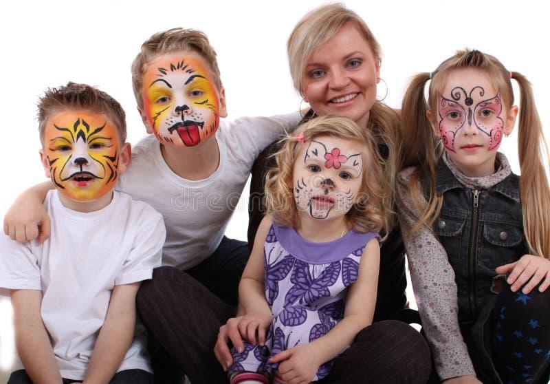 Stilist gemalte Kinder lizenzfreie stockfotografie