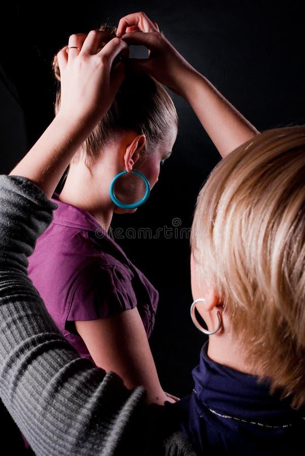 Stilista di capelli di modo immagine stock libera da diritti