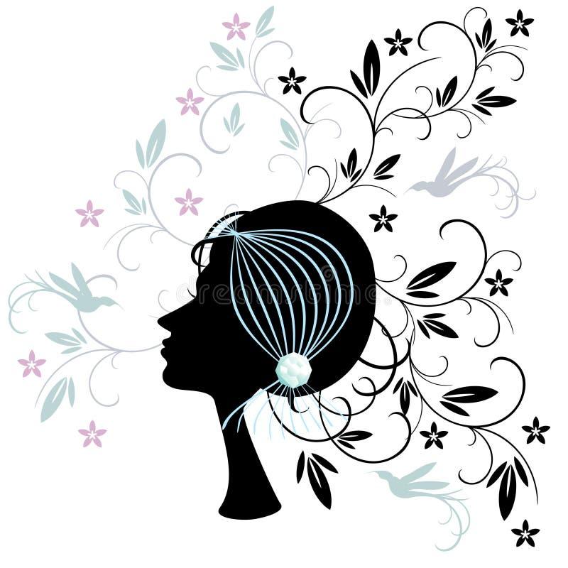 stilkvinna för hår s stock illustrationer