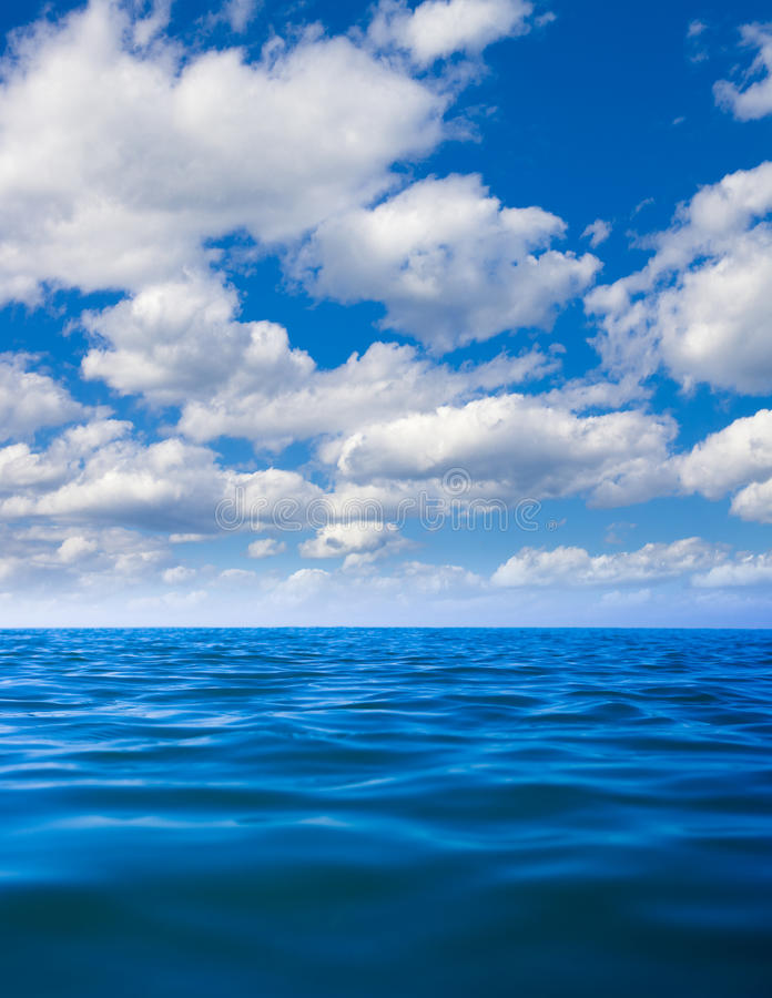 Still calm sea water surface stock image