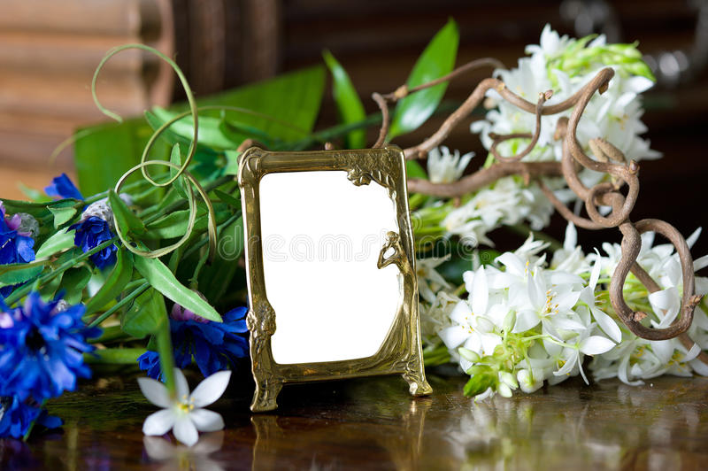 Download Still Life With Antique Ornate Frame. Stock Image - Image: 23477585