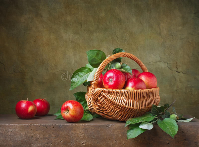 Still life with apples royalty free stock photos