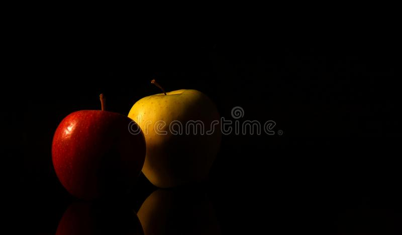 Still life with apples stock photography