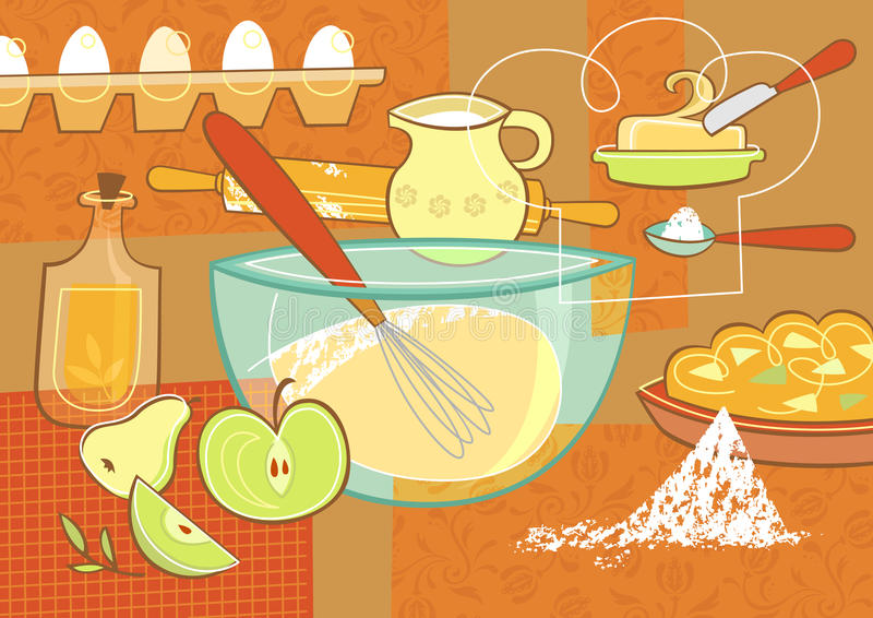 Still Life With Baking Supplies Royalty Free Stock Photo