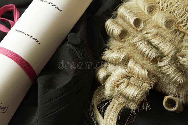 Still Life Of Barrister's Wig And Gown royalty free stock photography