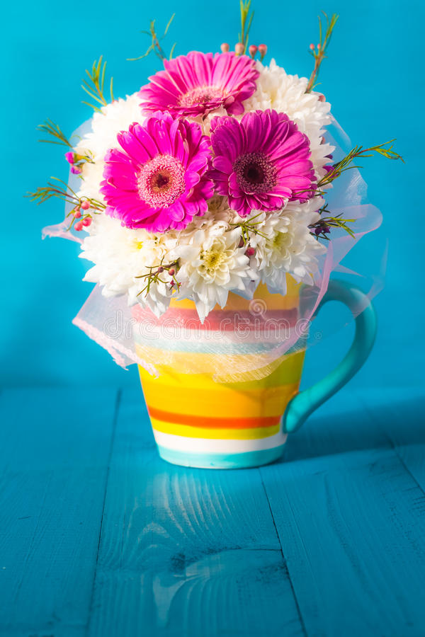 Still life beautiful bunch flowers royalty free stock photography