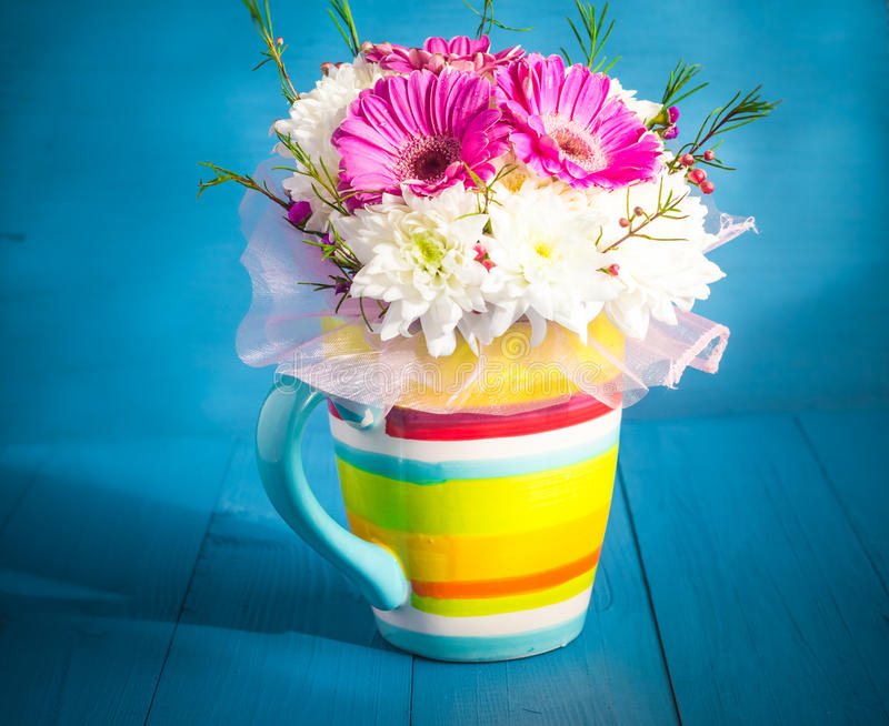 Still life beautiful bunch flowers royalty free stock image