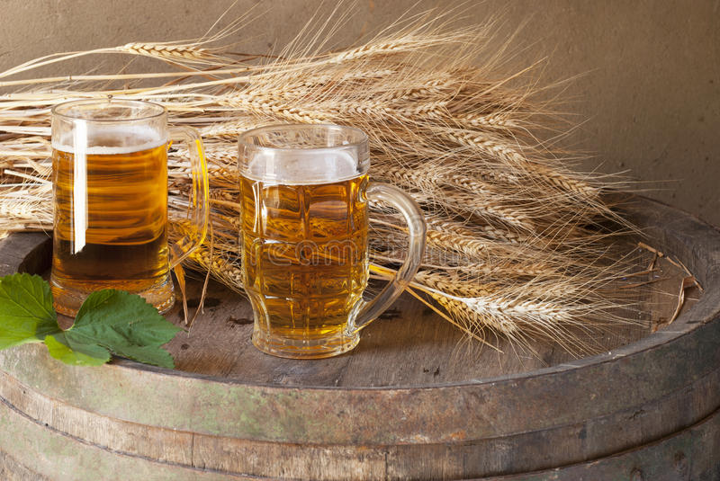 Still Life With Beer Stock Images