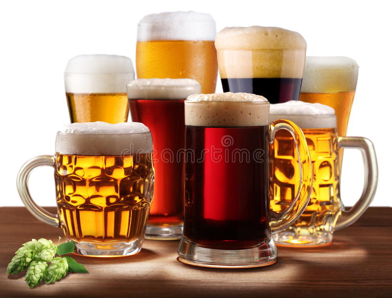 Download Still-life With Beer Glasses. Stock Image - Image: 16433117