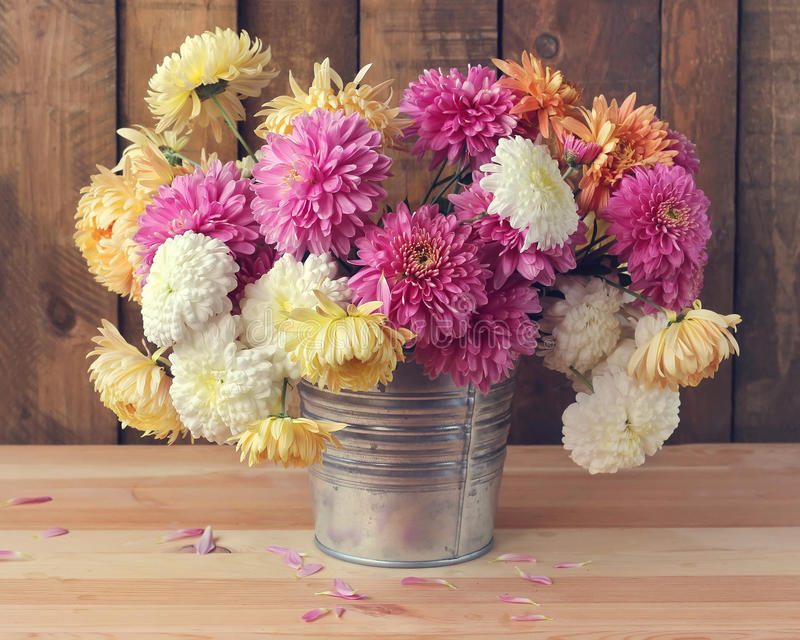 Still life with a bouquet. royalty free stock image