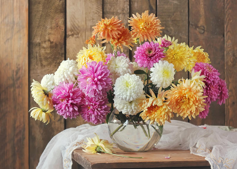 Still life with a bouquet. royalty free stock photography