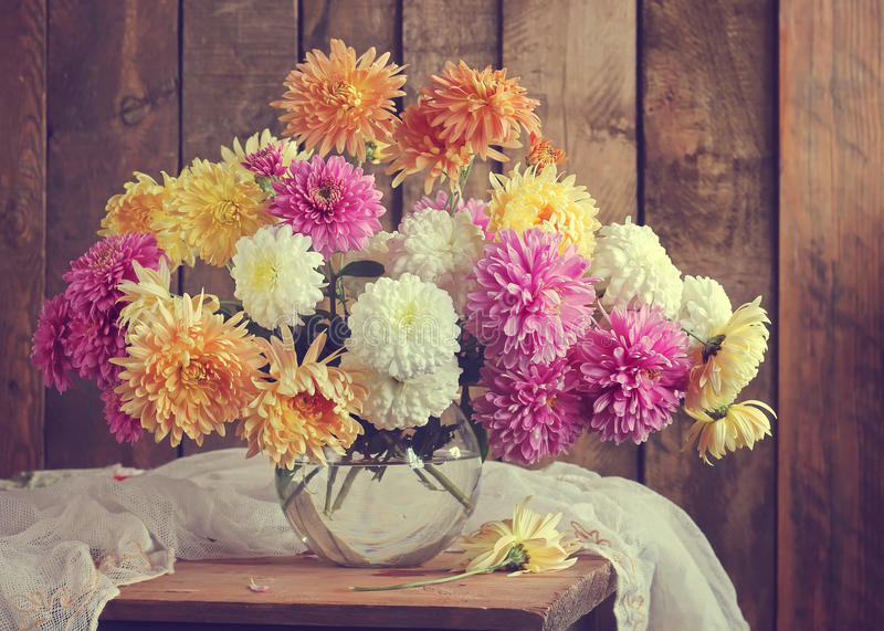 Still life with a bouquet. royalty free stock photos