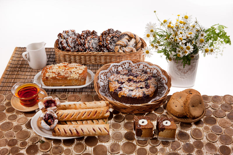 Still Life With Bread. And pastry stock image