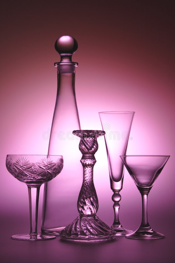 Still life with Carafe. Glass Dishes stock photography