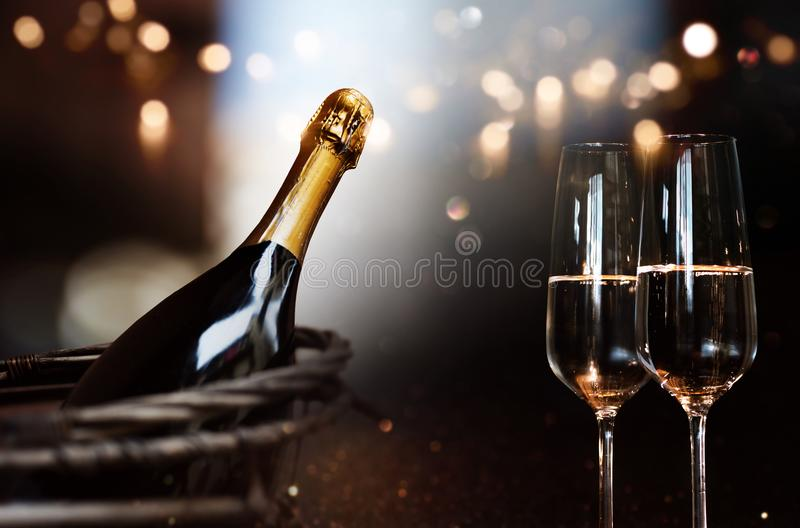 Still life with champagne royalty free stock image