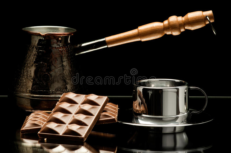 Download Still life coffee stock image. Image of chocolate, plates - 22930851