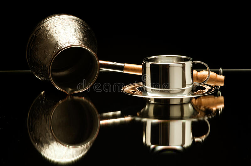 Download Still life coffee stock photo. Image of steel, ware, crockery - 26528774
