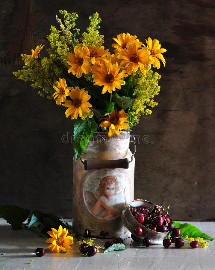 still life consisting of yellow and merry royalty free stock images