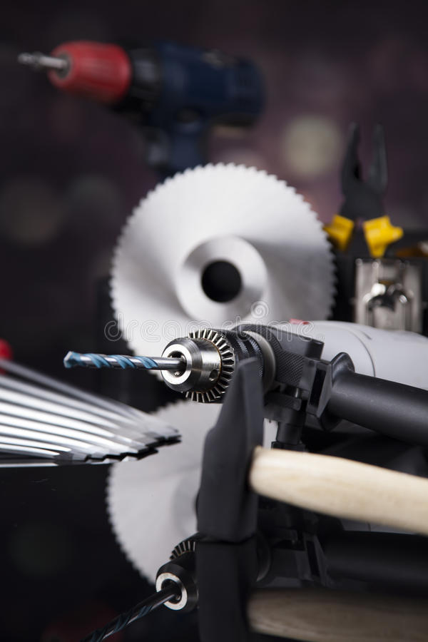 Still life with constructor tools stock images