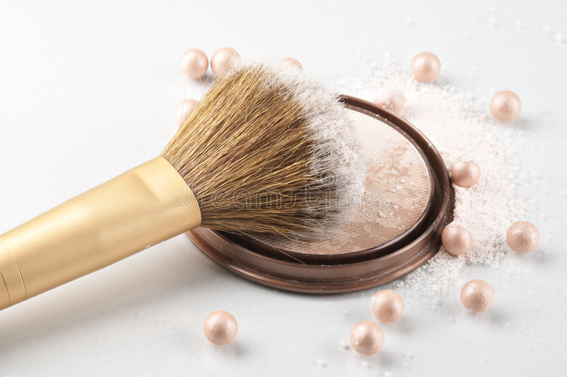 Still life with cosmetics. On the white background stock photos