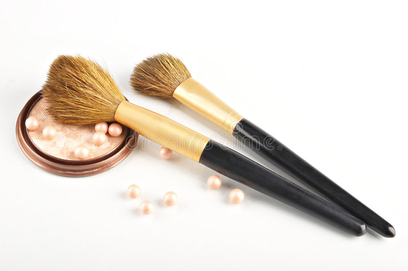 Still life with cosmetics. On the white background royalty free stock images